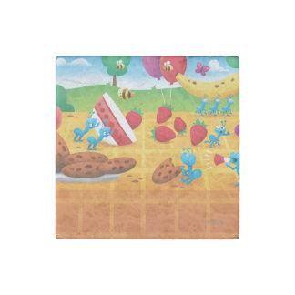 Summer Picnic Stone Magnet