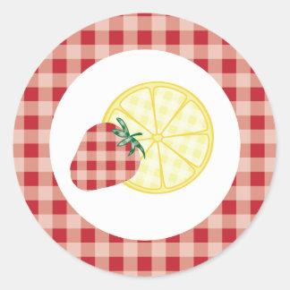 {Summer Picnic} Strawberry Lemonade Stickers - Red