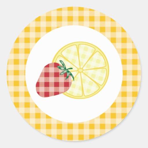 {Summer Picnic} Strawberry Lemonade Stickers - Yel