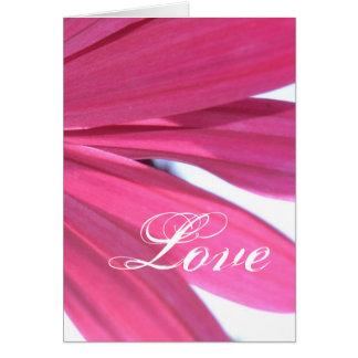 Summer Pink Flower- Love Card