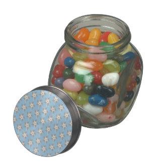 Summer Pinwheels Glass Candy Jar