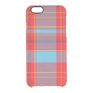 Summer Plaid Clear iPhone 6/6S Case