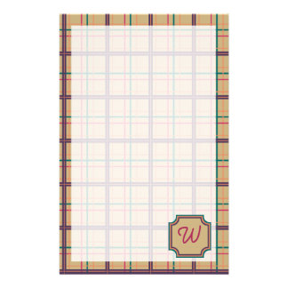 Summer Plaid Stationery