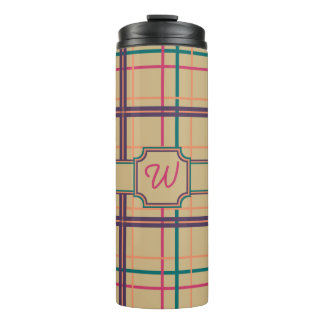 Summer Plaid Thermal Tumbler