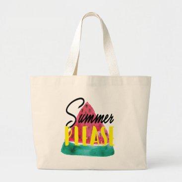 Beach Themed SUMMER PLEASE WATERMELON TOTE
