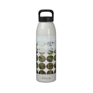 Summer Polka Dots Fields & Skies Reusable Water Bottle