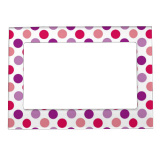 Summer Polka Dots Magnetic Picture Frame