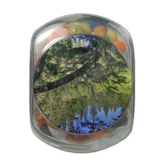 Summer Pond Glass Candy Jars