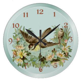 Summer Pond Large Clock