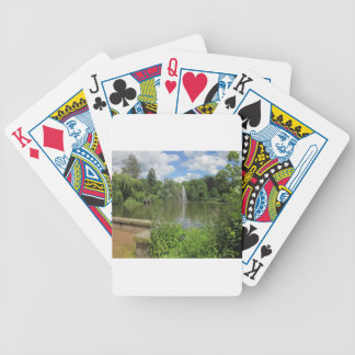 Summer Pond with Fontaine Bicycle Playing Cards