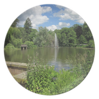 Summer Pond with Fontaine Party Plate