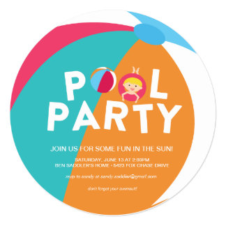 Summer Pool Party Card