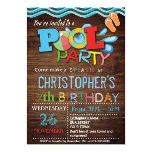 Pool party invitations announcements zazzle summer pool party invitation stopboris Images