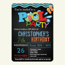SUMMER POOL PARTY INVITATION | POOL BIRTHDAY PARTY