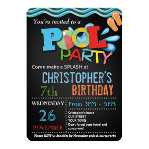 Pool party invitations announcements zazzle summer pool party invitation pool birthday party stopboris Image collections