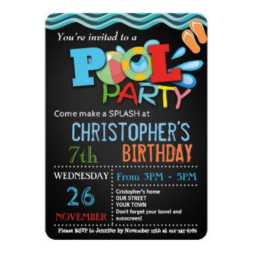 NellysPrint SUMMER POOL PARTY INVITATION | POOL BIRTHDAY PARTY