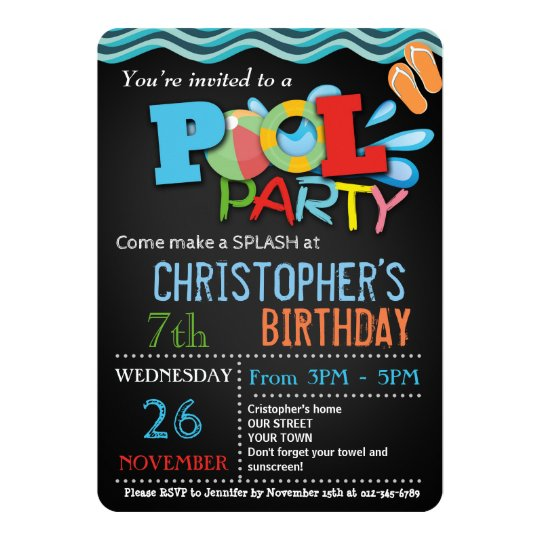 Summer pool party invitation pool birthday party zazzle summer pool party invitation pool birthday party filmwisefo