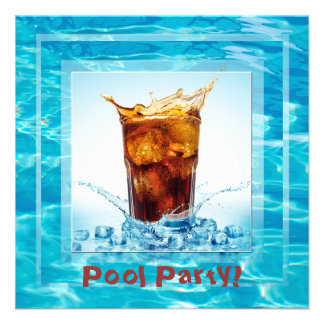 Summer Pool Party Personalized Invitation