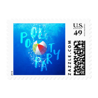 Summer Pool Party Postage Stamps
