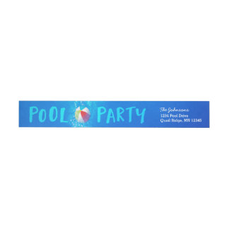 Summer Pool Party Return Address Labels