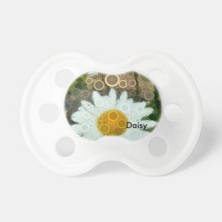 Summer Pop Art Concentric Circles Daisy Baby Pacifier
