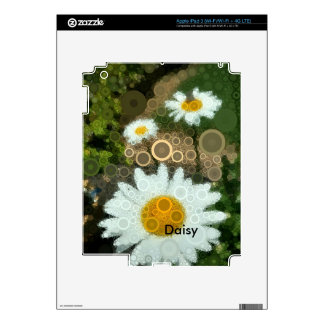 Summer Pop Art Concentric Circles Daisy iPad 3 Decal