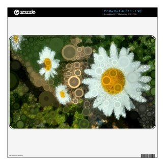 Summer Pop Art Concentric Circles Daisy Skins For MacBook