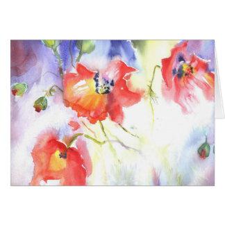 summer poppies card