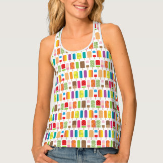 Summer Popsicles and Ice Cream Bars Tank Top
