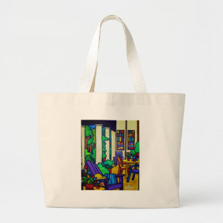 Summer Porch by Piliero Tote Bags