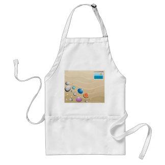 summer postcard adult apron