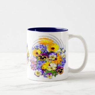 SUMMER POSY ~ Two-Tone Mug
