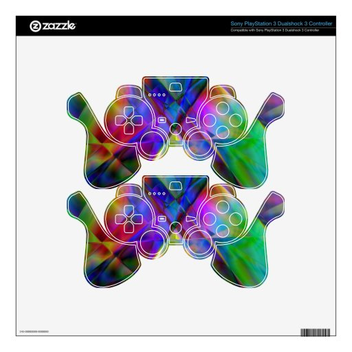 Summer Psychedelic PS3 Controller Skin