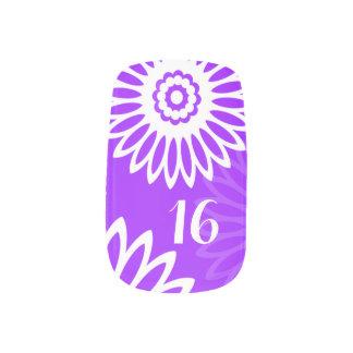 Summer Purple flowers Birthday Number Minx® Nail Wraps