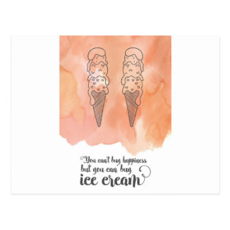 Summer quote for any ice cream fan postcard