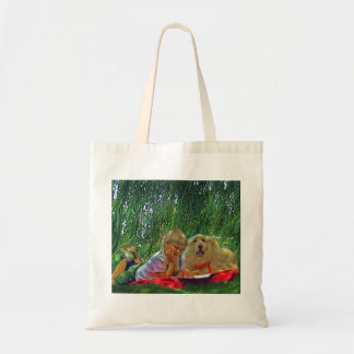 summer reading budget tote bag