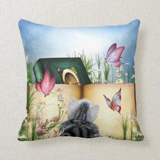 Decorative Reading Pillow : Cat Books Pillows - Decorative & Throw Pillows Zazzle