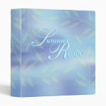 Summer recipe blue floral binders