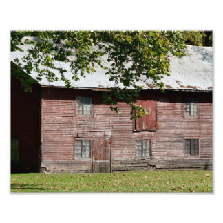 Summer Red Barn 10 x 8 Photographic Print