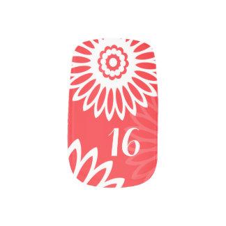 Summer Red flowers Birthday Number Minx® Nail Art