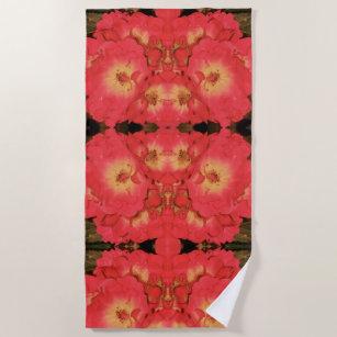 A Summer Rose Beach Towels Zazzle