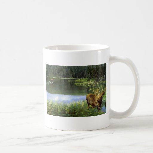 Summer reflections, Moose Classic White Coffee Mug