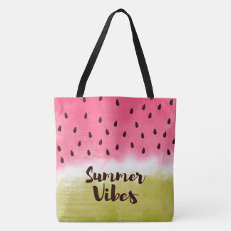 Summer refreshing fruity tote bag