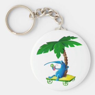 Summer Relax on the Beach Keychains