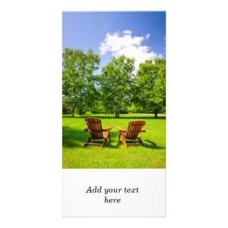 Summer relaxing picture card