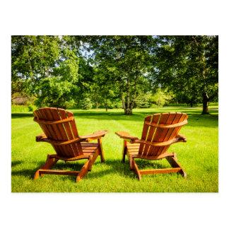Summer relaxing postcard