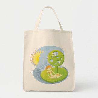 Summer Rest Grocery Tote Bag