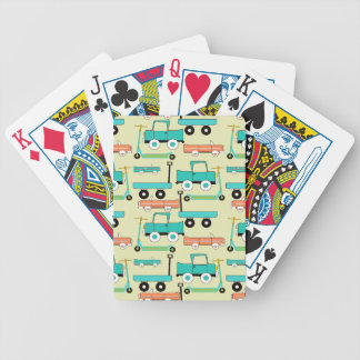 Summer Retro Wheels Scooters Cars Wagons Trucks Bicycle Playing Cards