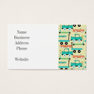 Summer Retro Wheels Scooters Cars Wagons Trucks Business Card