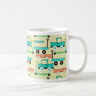 Summer Retro Wheels Scooters Cars Wagons Trucks Coffee Mug